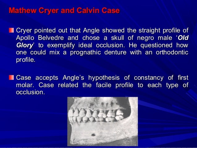 He proposed the concept of apical base and divided dentofacial area into four segments or zones of movement. He was aware ...
