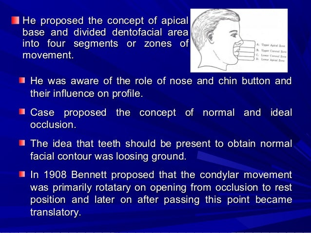 Lischer and Paul Simon They broadened the concept of occlusion by relating the teeth to the rest of the face and cranium. ...