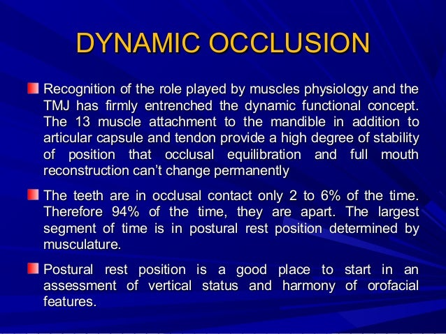 Occlusion is a dynamic entity show variation according to age and sex. Most girls by the age of 12 achieve relatively stab...