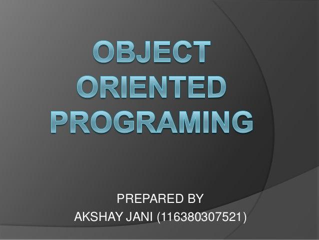 PREPARED BYAKSHAY JANI (116380307521)
