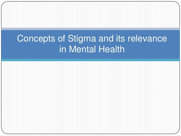 an overview of the fellowship and the concept of stigma