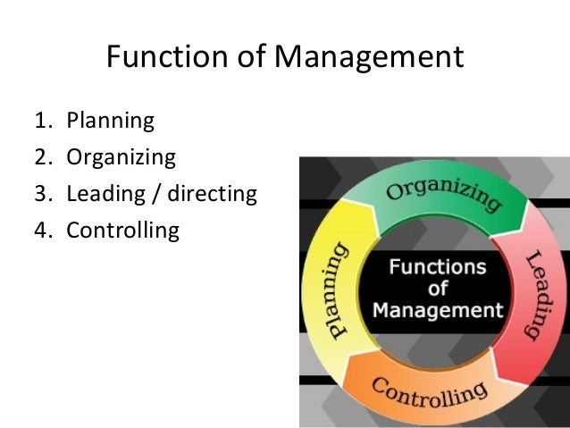 four functions management planning leading controlling and The aim of this paper is to discuss the four functions of management namely: planning, organizing, directing and controlling planning this is the first management function and it is a very important area of all the four functions of management this is the core foundation of management from which other management functions are derived and built.