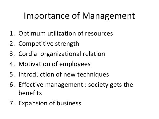importance of management functions and principles Basics edit according to fayol, management operates through five basic functions: planning, organizing, coordinating, commanding, and controlling.