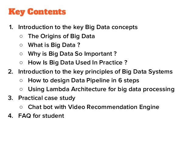 Concepts, use cases and principles to build big data systems (1) Slide 2