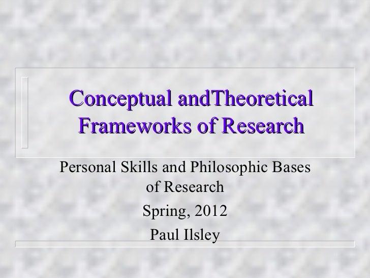 Conceptual and interpretive frameworks