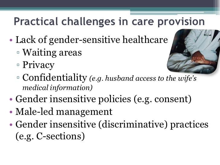 gender sensitive issues in nursing Geriatric considerations in nursing expanded and extended role of nurse gender sensitivity  issues on gender sensitivity iv a gender roles 1 productive .