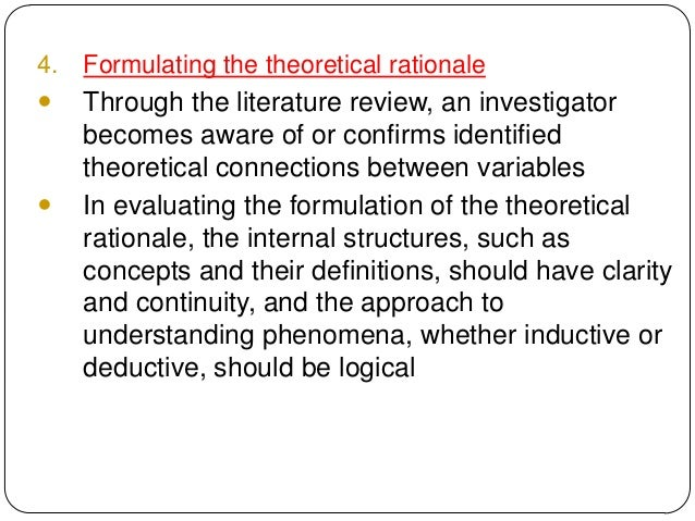 theoretical and conceptual approach for evaluation Programmes through a realistic approach to evaluation based on objective-oriented theory, theory-driven evaluation paradigm and conceptual issues this approach allows for the use of logical framework to explain the.