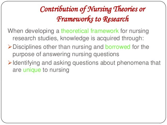 nursing theory and research