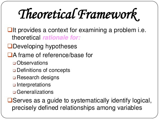 theoretical framework 5 essay Preparing a theoretical framework for a research paper requires you to consider your research project, as well as similar projects, and then choose a structure that best suits your specific needs evaluate research project.