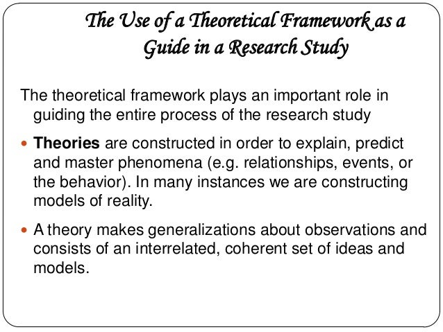 theoretical framework research paper