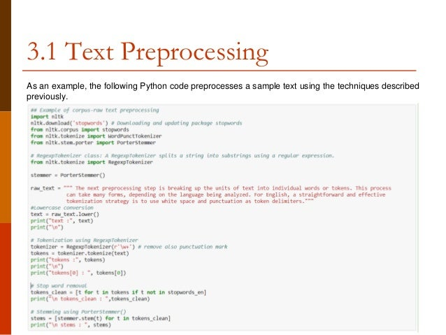 Conceptual foundations of text mining and preprocessing