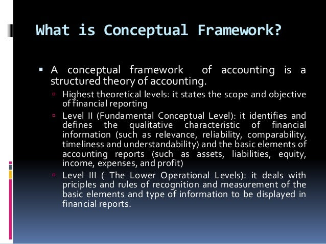 conceptual framework of accounting Conceptual framework introduction this table lists only the latest version (by operative date) of each conceptual framework document, which may apply to future reporting periods, but may be applied early.