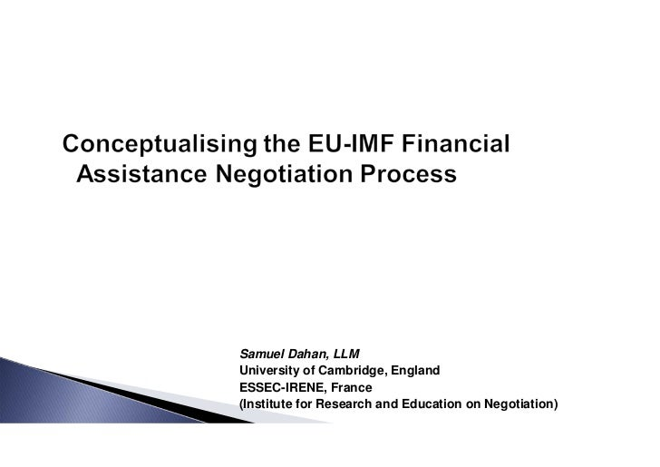Samuel Dahan, LLMUniversity of Cambridge, EnglandESSEC-IRENE, France(Institute for Research and Education on Negotiation)