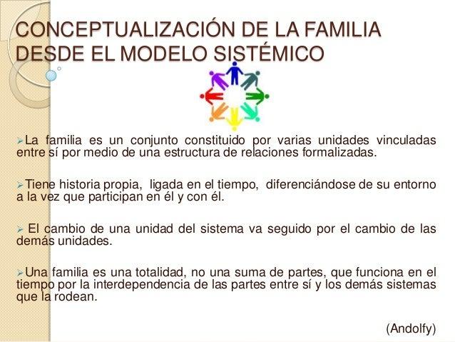 Conceptualización De La Familia Desde El Modelo Sistémico