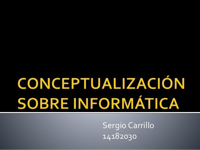 Sergio Carrillo 14182030