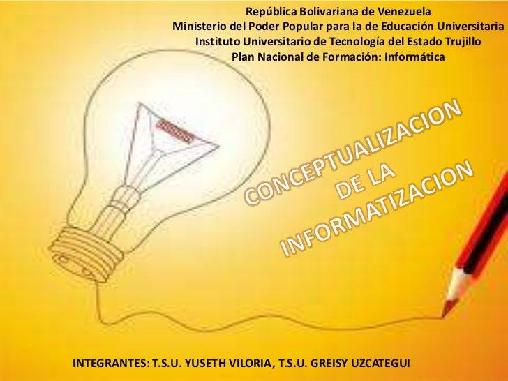 República Bolivariana de Venezuela                 Ministerio del Poder Popular para la de Educación Universitaria        ...