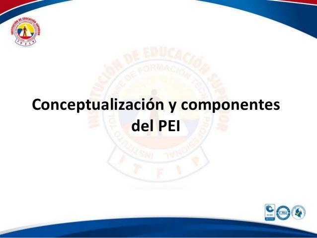 Conceptualización y componentes del PEI