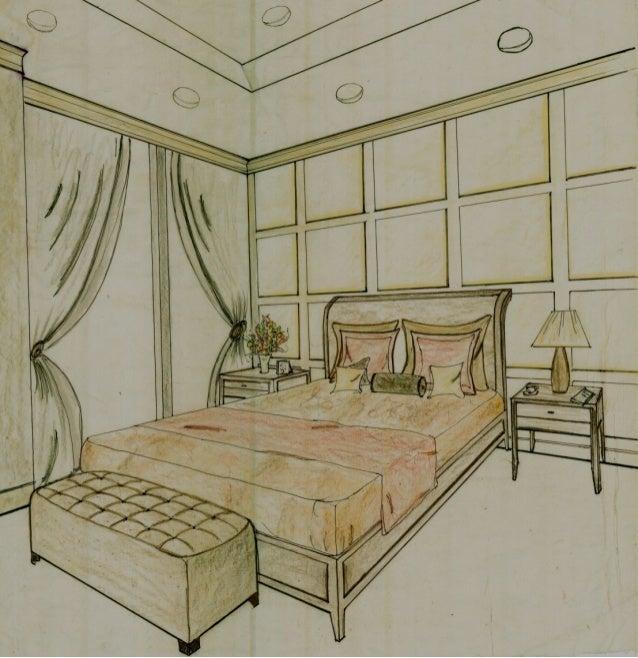 Conceptual Loft Design Boards: Bedroom 3D Perspective