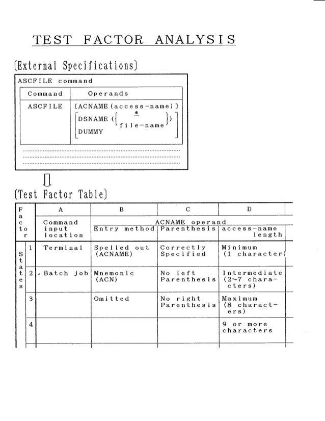 conceptual support for test case design compsac 87