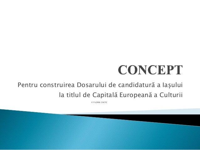 Pentru construirea Dosarului de candidatură a Iașului la titlul de Capitală Europeană a Culturii © FLORIN CINTIC