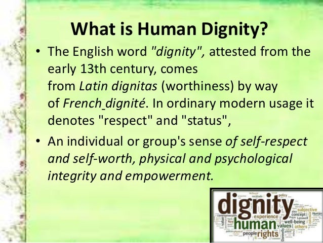 respect for the individual definition