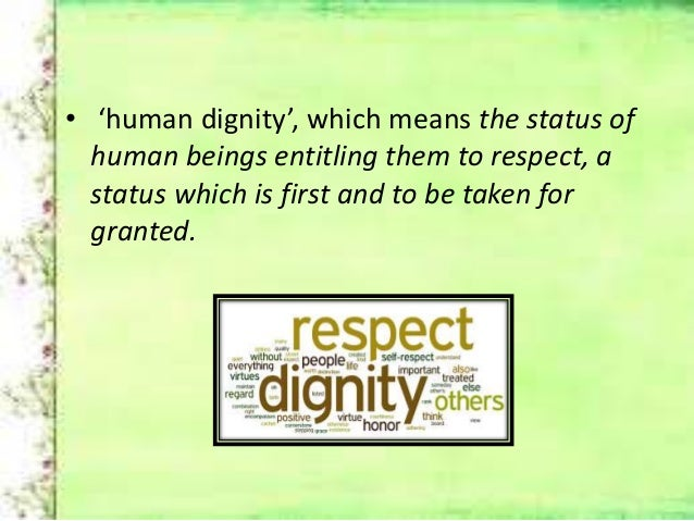 Being human is to respect equality