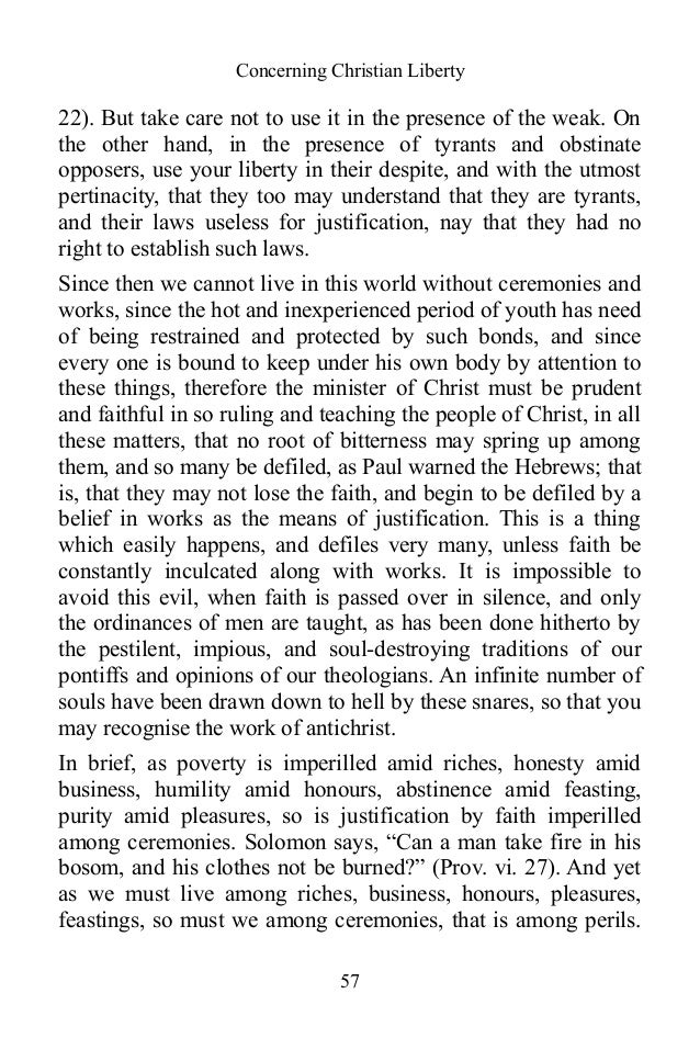 martin luthers on christian liberty essay Essay writing essay topics help  you are at: thesis writing thesis topic help articles summary of 95 thesis summary of 95 thesis by martin luther.