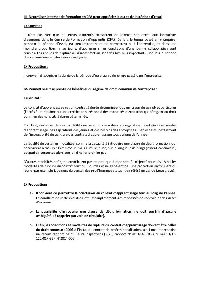 III‐ Neutraliser le temps de formation en CFA pour apprécier la durée de la période d'essai  1/ Constat :  Il n'est pas ra...
