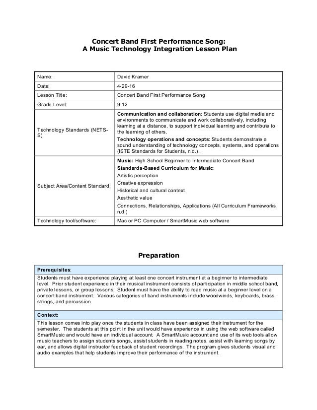 Concert Band First Performance Song: A Music Technology Integration L…
