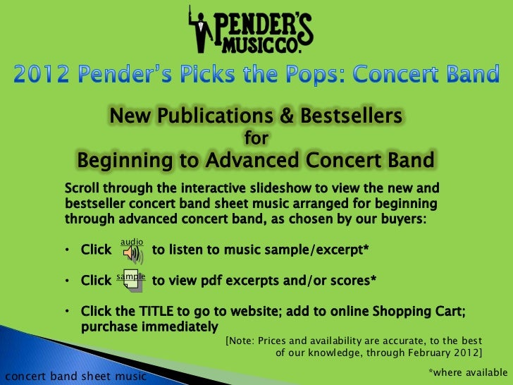 New Publications & Bestsellers                                            for            Beginning to Advanced Concert Ban...
