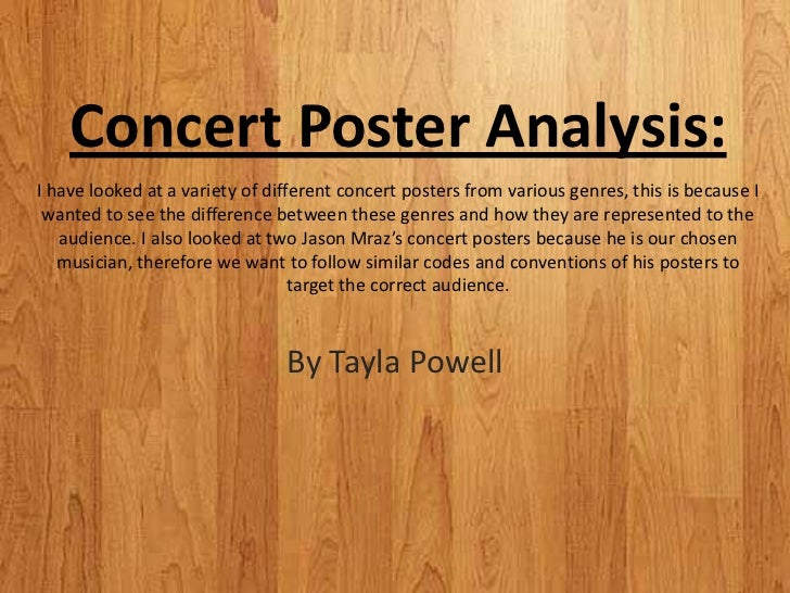 concert analysis Rock concert swot analysis profile additional information what is a swot analysis it is a way of evaluating the strengths, weaknesses, opportunities.