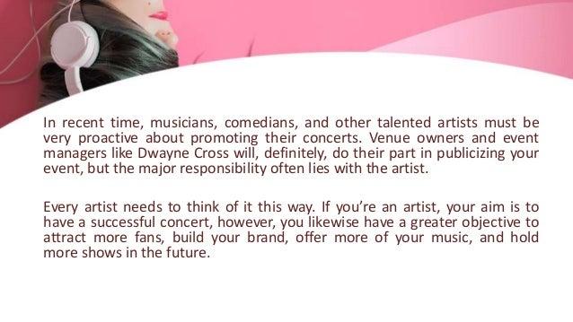 Concert promotion tips for artists