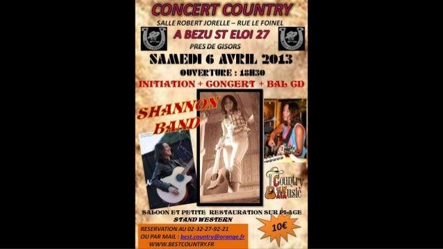 Concert shannon 06 04-2013 a bezu saint eloi