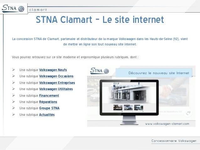 Volkswagen Clamart - Nouveau site internet de la concession STNA  Slide 2
