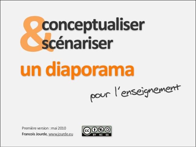 & un0diaporama0  conceptualiser0 scénariser0 ignement ur l'ense po  Première'version':'mai'2010 Francois'Jourde,'www.jour...