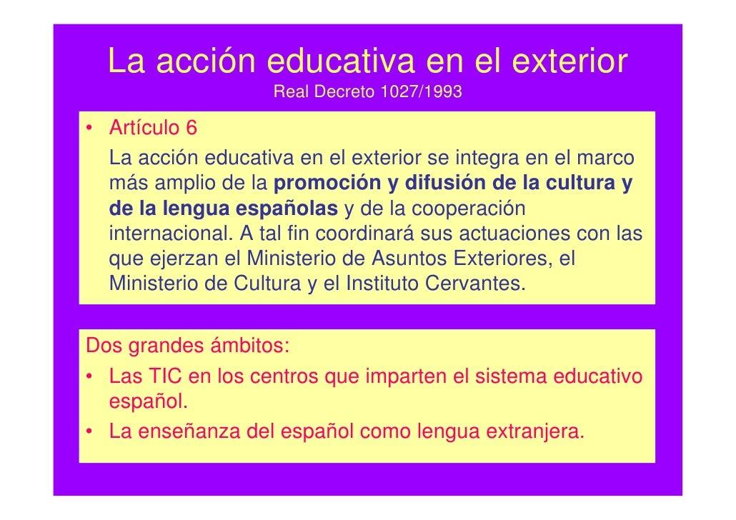 Concha vidorreta tic acci neducativaexterior 1 for Profesores en el extranjero