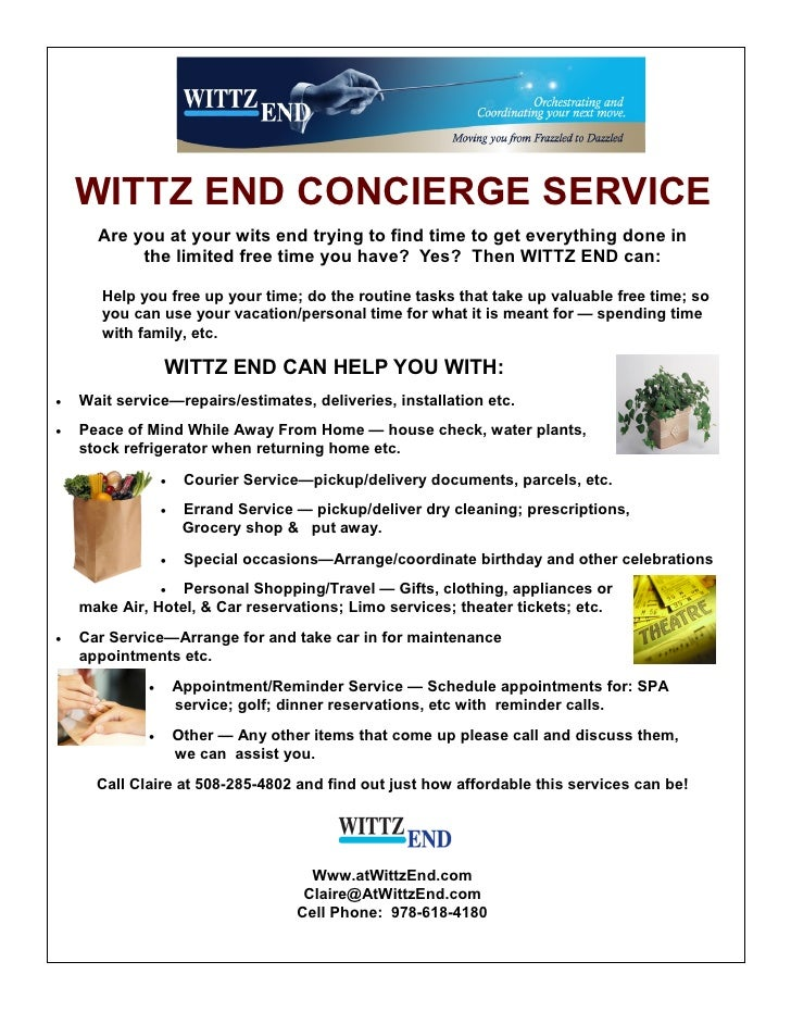 concierge service flyer