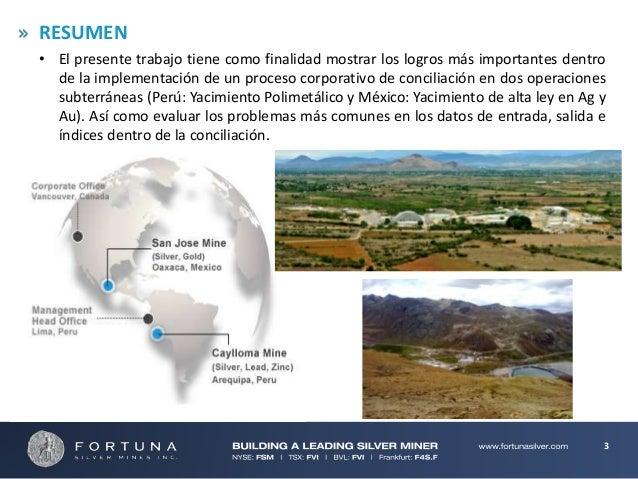 Conciliacion en Minería Subterranea: Procedimientos y Aplicaciones Slide 3