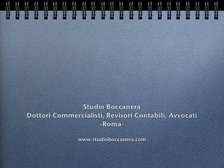 Studio Boccanera Dottori Commercialisti, Revisori Contabili, Avvocati                      -Roma-                 www.stud...