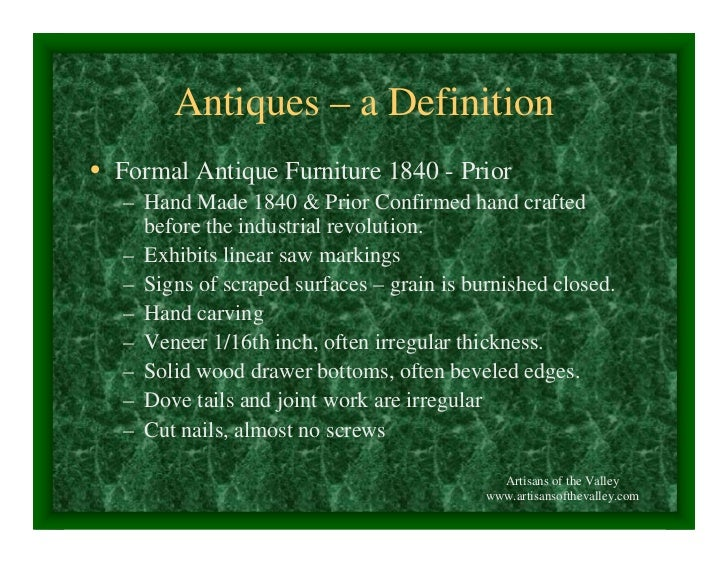 Antiques – a Definition • Formal Antique Furniture ... - The Concise History Of Early American Furniture