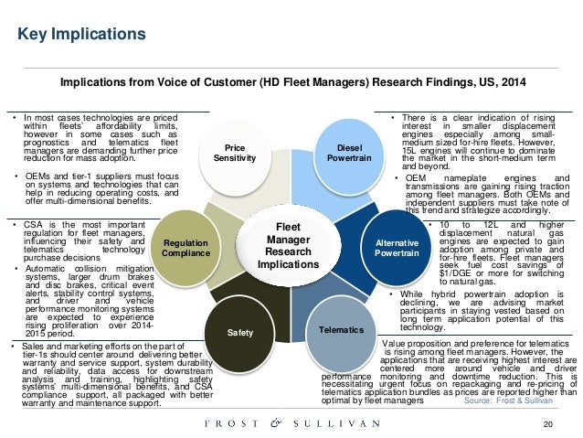 Concise Summary 2014 United States Fleet Managers Voice of Customer R…