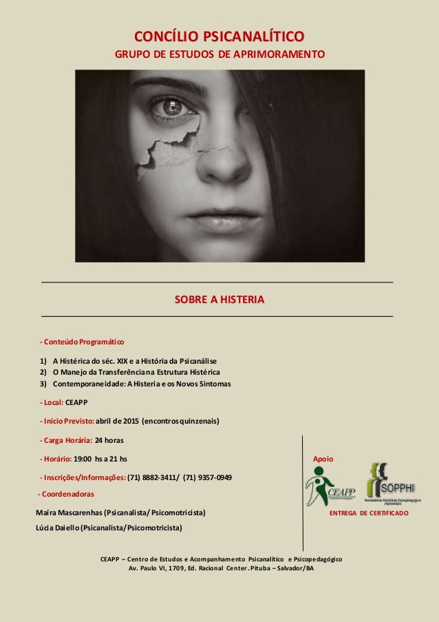 CCOONNCCÍÍLLIIOO PPSSIICCAANNAALLÍÍTTIICCOO GRUPO DE ESTUDOS DE APRIMORAMENTO SSOOBBRREE AA HHIISSTTEERRIIAA - ConteúdoPro...