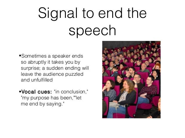 how to write a conclusion for a speech