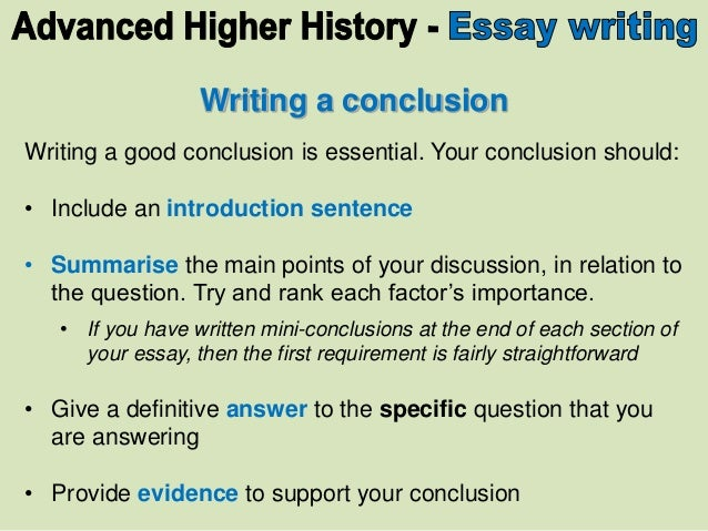How to write a good conclusion for a dissertation