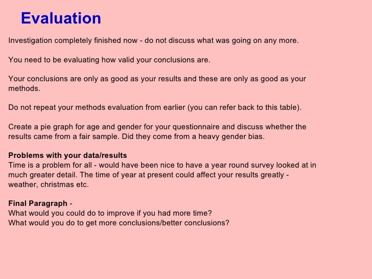 how to write a evaluation paragraph