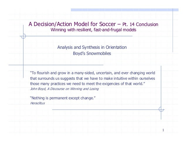 conclusion for soccer Conclusion the skills of soccer are difficult because humans are hand-eye  dominated the skills discussed here, however, are eye-foot and.