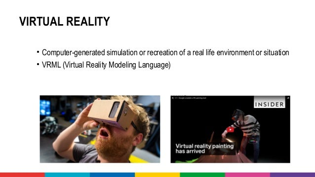 A glimpse into the world of virtual reality