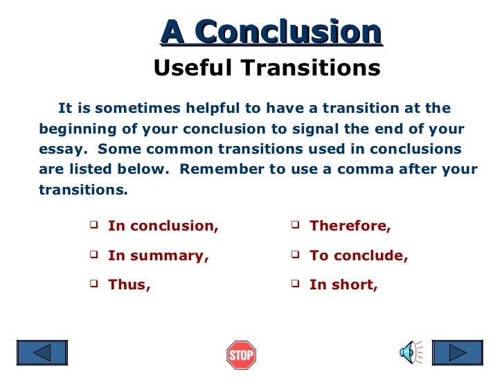 conclusion 16 a conclusion