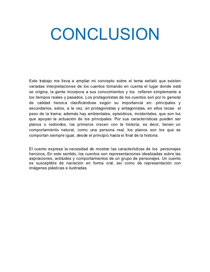 Conclusion Cuentos