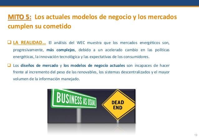 13 MITO 5: Los actuales modelos de negocio y los mercados cumplen su cometido  LA REALIDAD… El análisis del WEC muestra q...